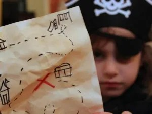 Make a treasure map of your backyard - Pirate Activities for Kids