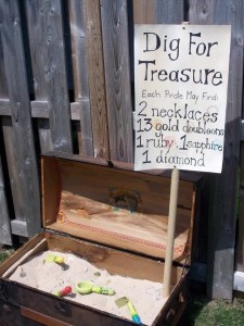 Sand Box Treasure Hunt - pirate treasure hunt ideas