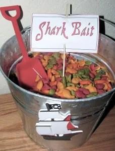 Goldfish - pirate snack ideas