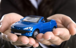 hands with toy car