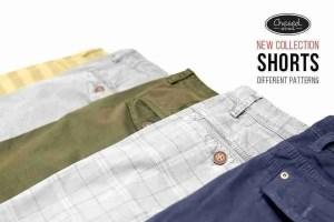 Chino shorts met motieven