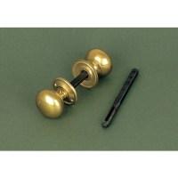 Period Cottage Door Knob Handles in Brass from Cheshire ...