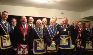 Alex-Bradley-to-the-right-of-APGM-George-Mann-with-Grand-and-Acting-Provincial-Officers