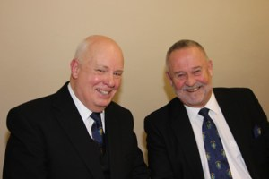 left to right : WBro Paul Stefan Richards PAGDC Festival Chairman, WBro. Peter Edward Owen PSGD PAProvGM