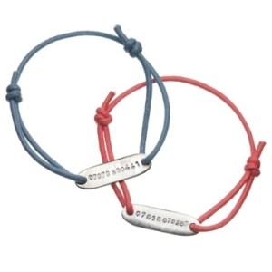 Simple personalised ID bracelet