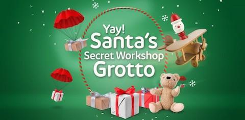 Santas secret workshop grotto