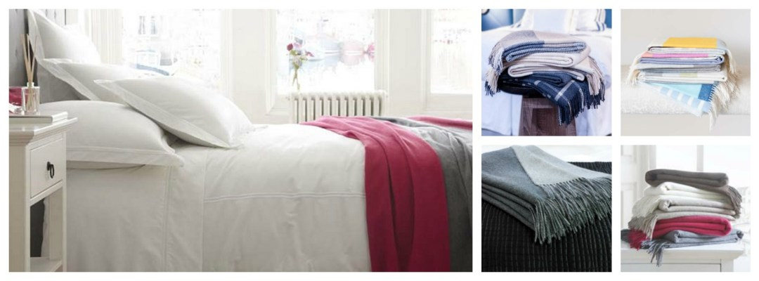 Snuggle up in gorgeous throws or blankets from The Fine Cotton Company www.thefinecottoncompany.com