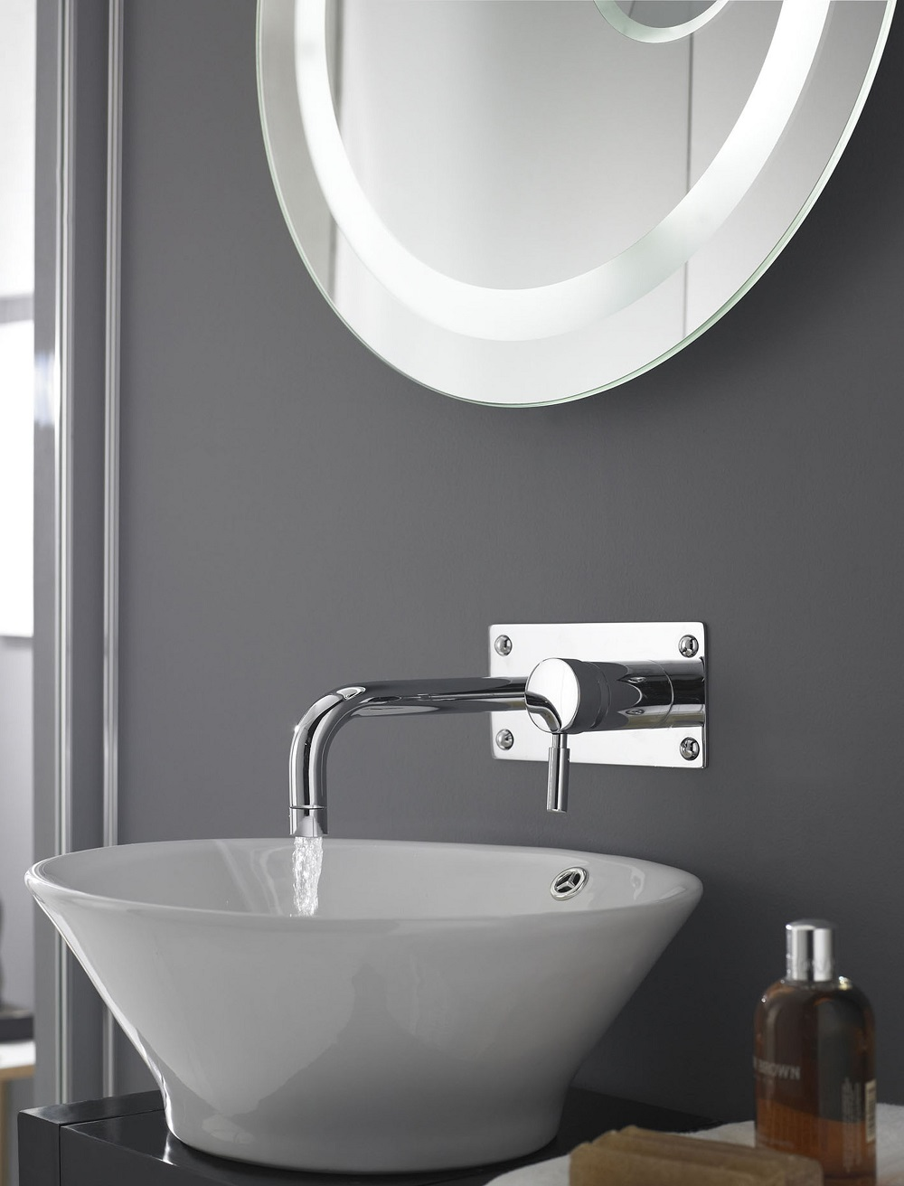 Spectacular wall mounted tap