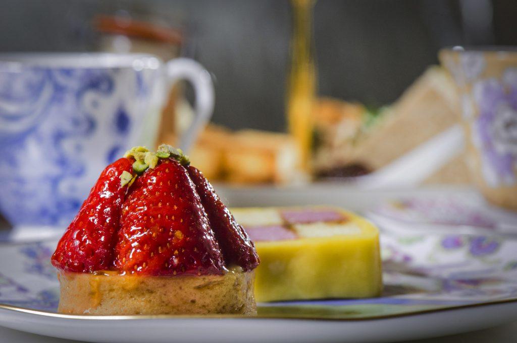 pretty strawberry summer dessert