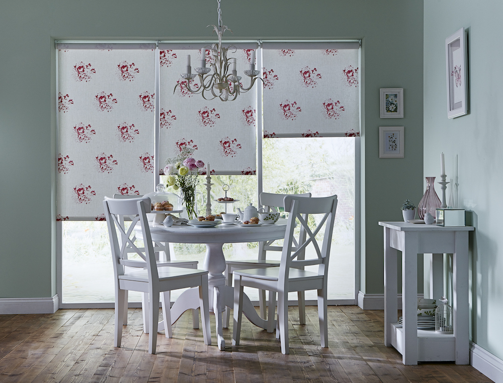 Apollo Blinds You Choose Roller Blind - Cabbages and Roses Hatley Cerise