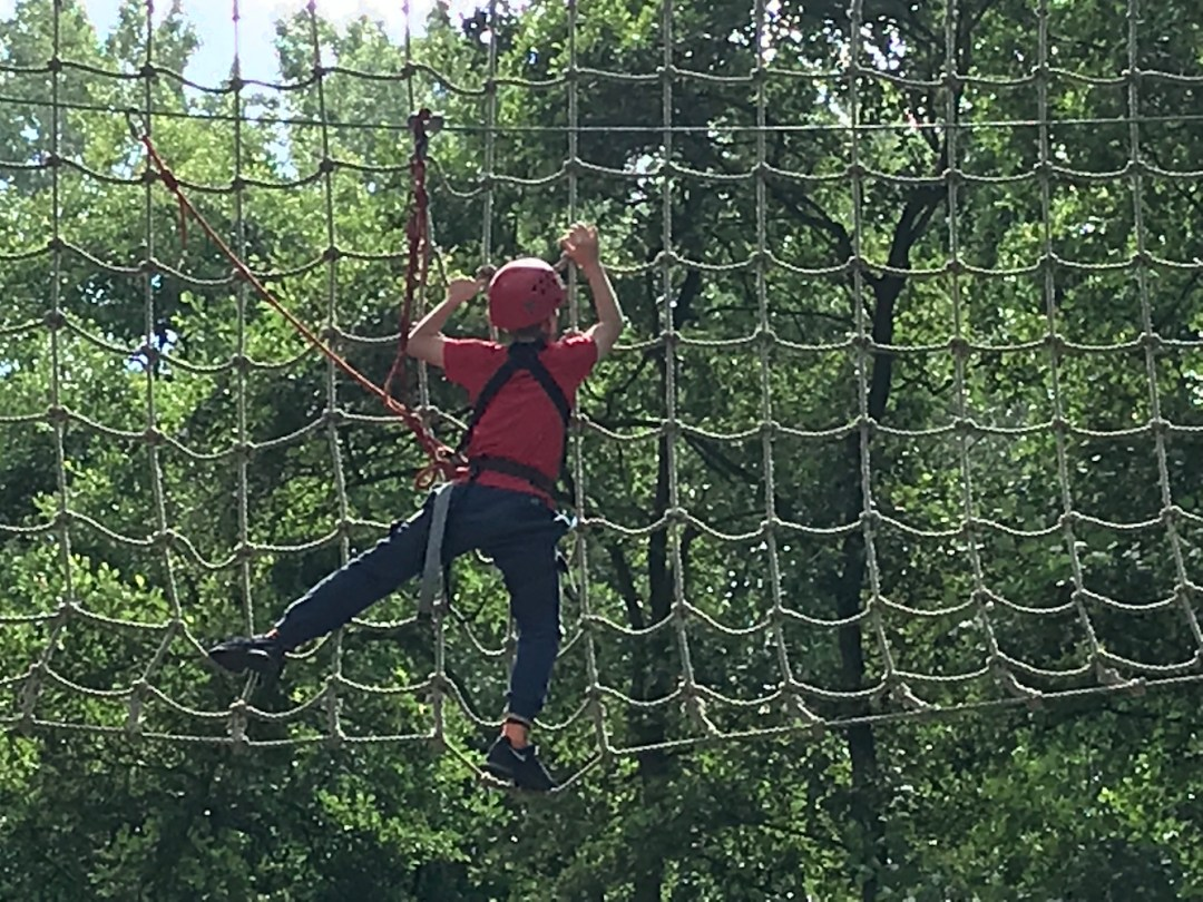 kong high ropes on the nets