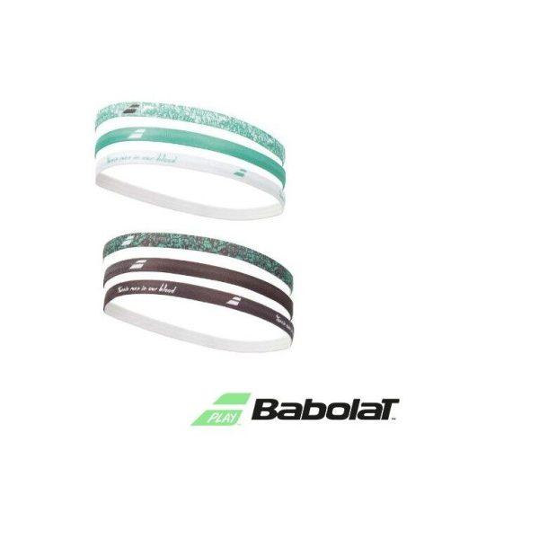 Babolat 'om te keren' polsband breed lichtblauw/geel | 2stuks