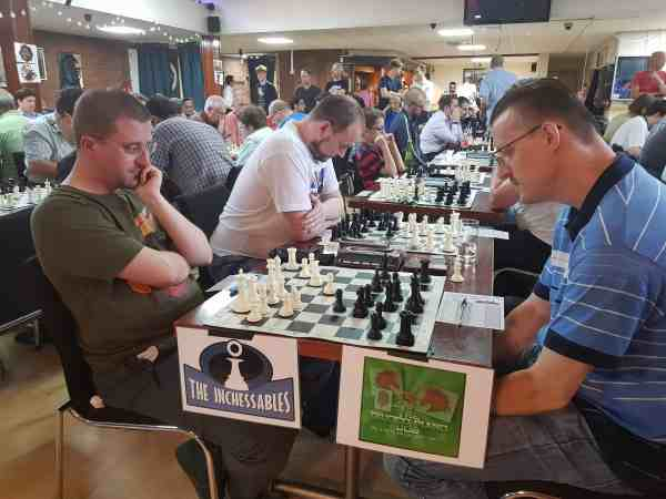 Maik Naundorf Vs Ed Mospan in the Summer Chess League