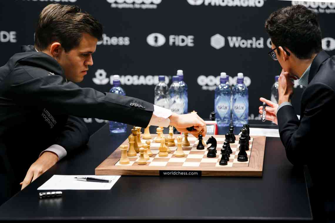 Magnus Carlsen Vs Fabiano Caruana, Game 7