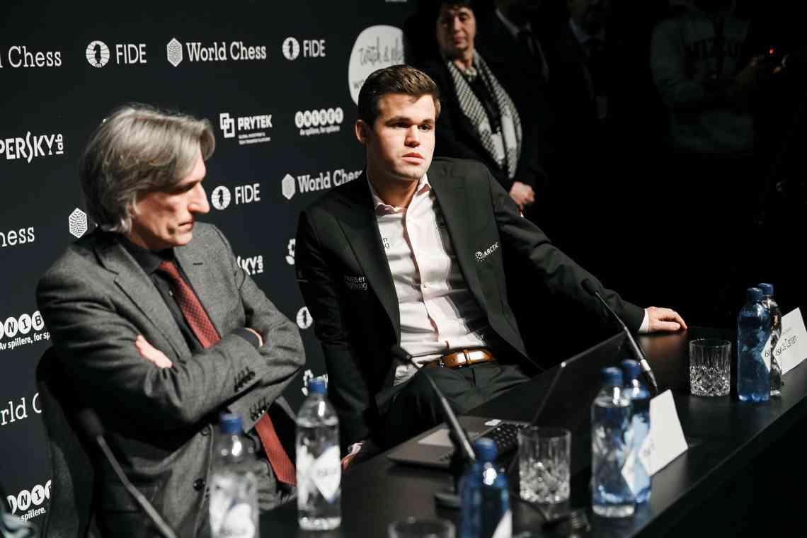 Carlsen-Caruana Game 7 press conference