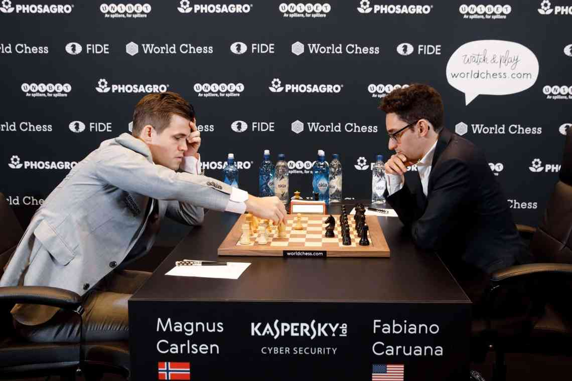 Carlsen opened with 1.d4
