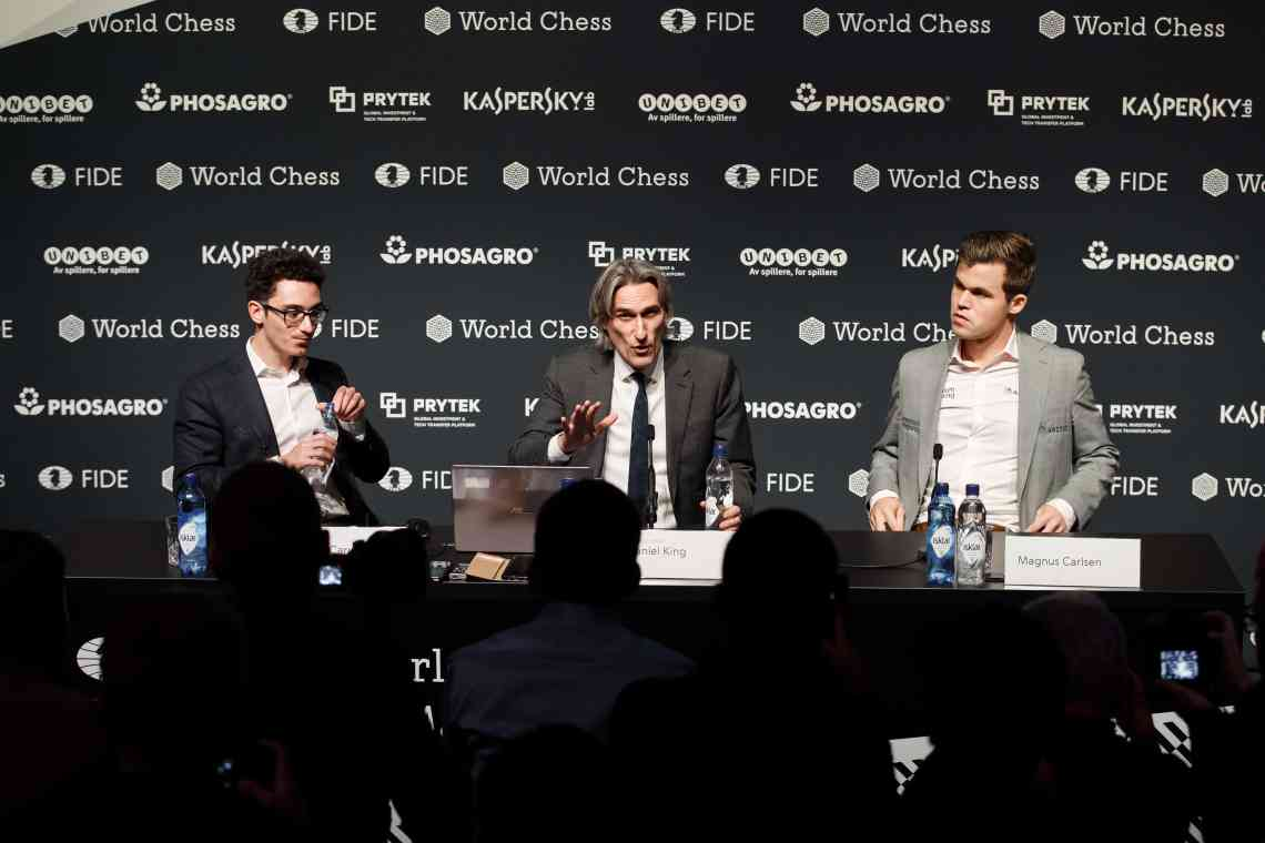 Carlsen Caruana Game 12 post-match press conference