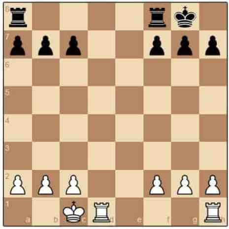 White has castled queen-side and Black castled king-side