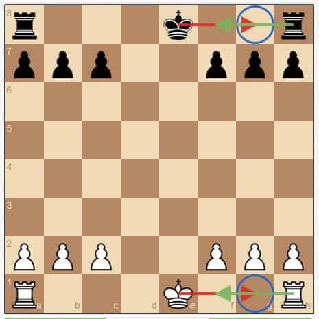 How to castle in chess: King-side castling