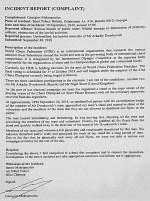 police report in Batumi