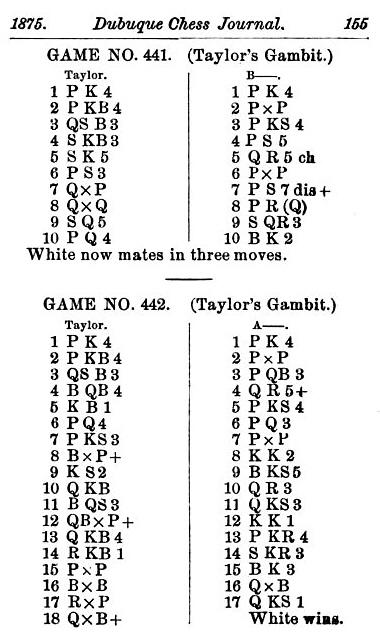 A Chess Gamelet by Edward Winter