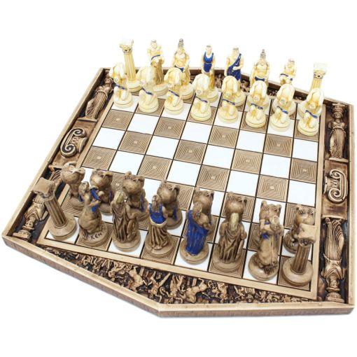 ARMA 陶器のチェスセット アトラス 31cm 青 1