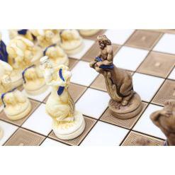ARMA 陶器のチェスセット アトラス 31cm 青 12