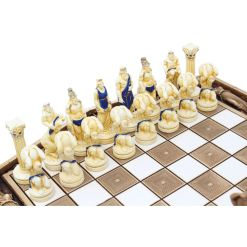 ARMA 陶器のチェスセット アトラス 31cm 青 4