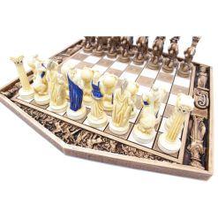 ARMA 陶器のチェスセット アトラス 31cm 青 8
