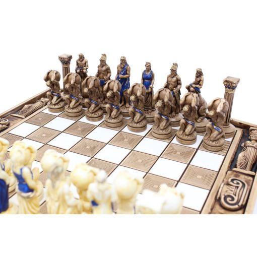 ARMA 陶器のチェスセット アトラス 31cm 青 9