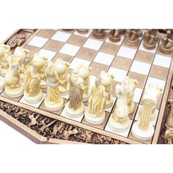 ARMA 陶器のチェスセット アトラス 31cm 金 11