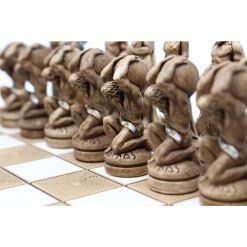 ARMA 陶器のチェスセット アトラス 31cm 金 6