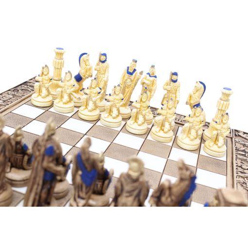 ARMA 陶器のチェスセット レオニダス 31cm 青 11