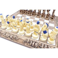 ARMA 陶器のチェスセット レオニダス 31cm 青 2