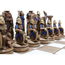 ARMA 陶器のチェスセット レオニダス 31cm 青 5