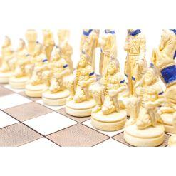 ARMA 陶器のチェスセット レオニダス 31cm 青 7