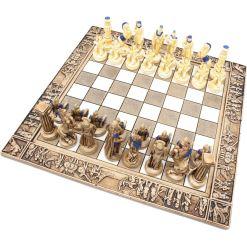 ARMA 陶器のチェスセット レオニダス 31cm 青 9