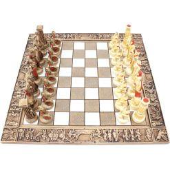 ARMA 陶器のチェスセット レオニダス 31cm 赤 6