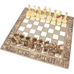 ARMA 陶器のチェスセット レオニダス 31cm 赤 8