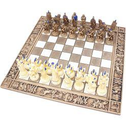 ARMA 陶器のチェスセット トロイア戦争 31cm 青 1