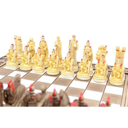 ARMA 陶器のチェスセット トロイア戦争 31cm 赤 11