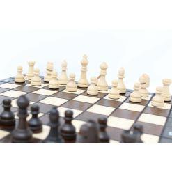 木製ゲームセット チェス/バックギャモン/チェッカー 27cm 11