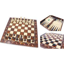 Wegiel 木製ゲームセット チェス/バックギャモン/チェッカー 41cm 1