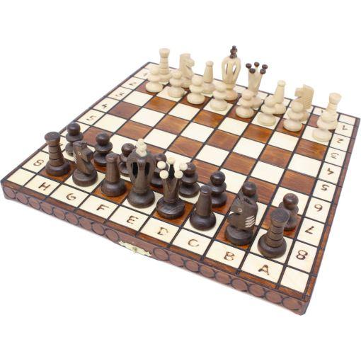 Wegiel 木製チェスセット ロイヤル 30cm 12
