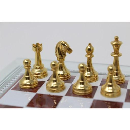 Italfama ガラス製チェスセット 金属製チェス駒 4