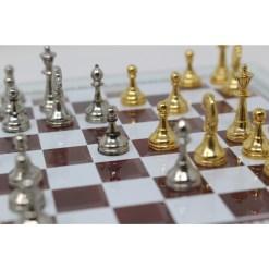 Italfama ガラス製チェスセット 金属製チェス駒 12