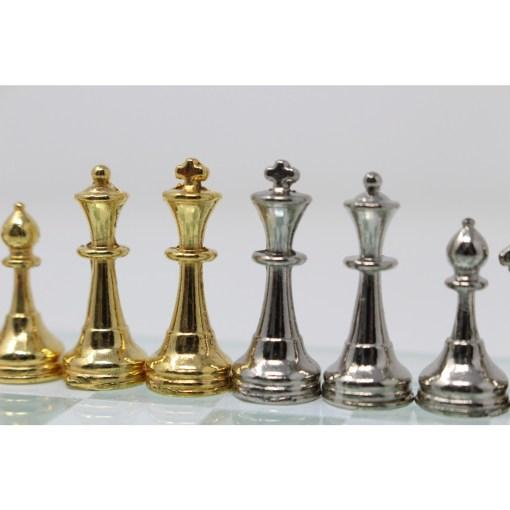 Italfama ガラス製チェスセット 金属製チェス駒 18