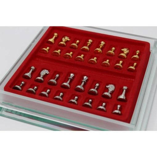 Italfama ガラス製チェスセット 金属製チェス駒 21