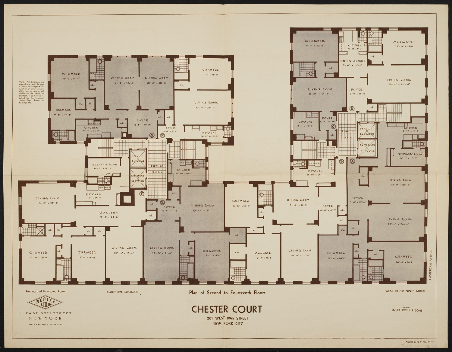 New York City Apartment Building Floor Plans
