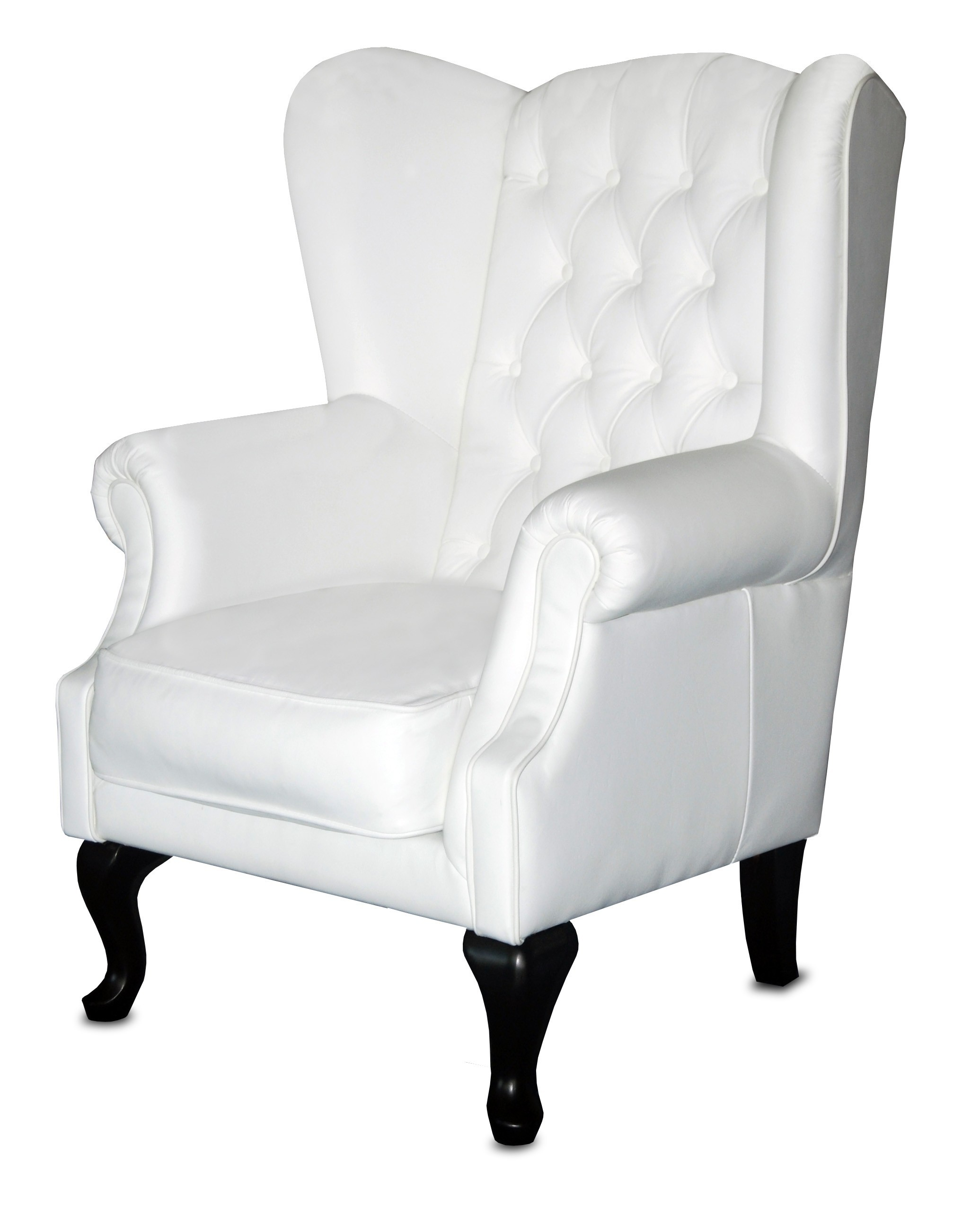 white leather wingback chair reclaimed wood rocking chesterfield lounges sofas
